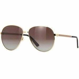 Gucci Aviator Sunglasses W/Brown Polarized Lens